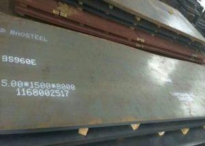 960 челична плоча со висока јачина